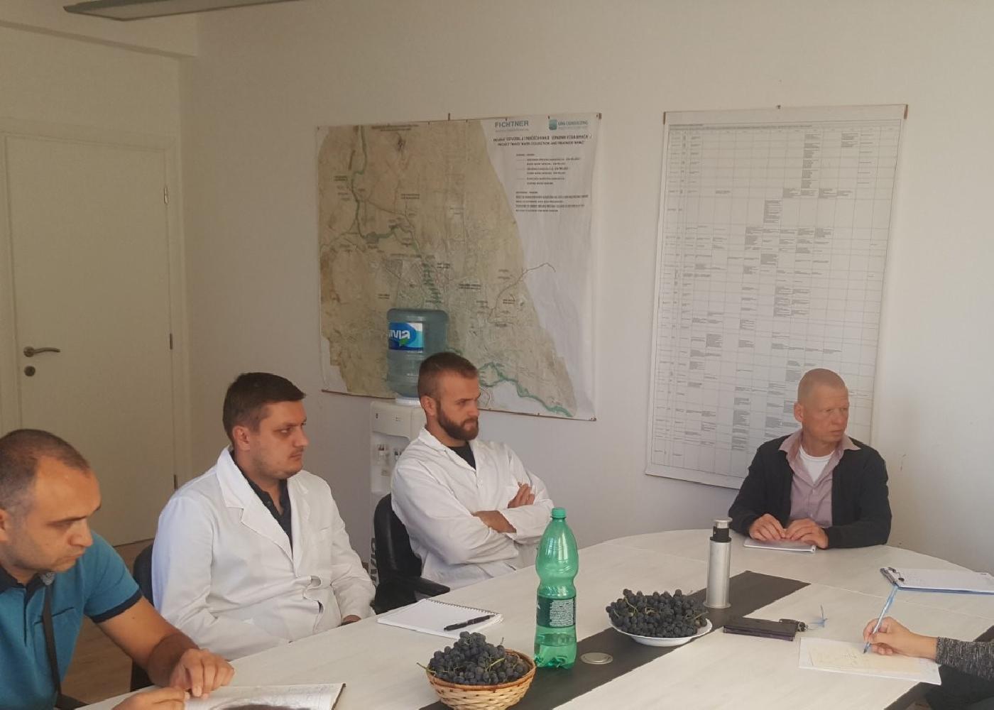 Posjeta postrojenju za prečišćavanje otpadnih voda u Bihaću – pripremne aktivnosti za razmjenu iskustava među jednakima