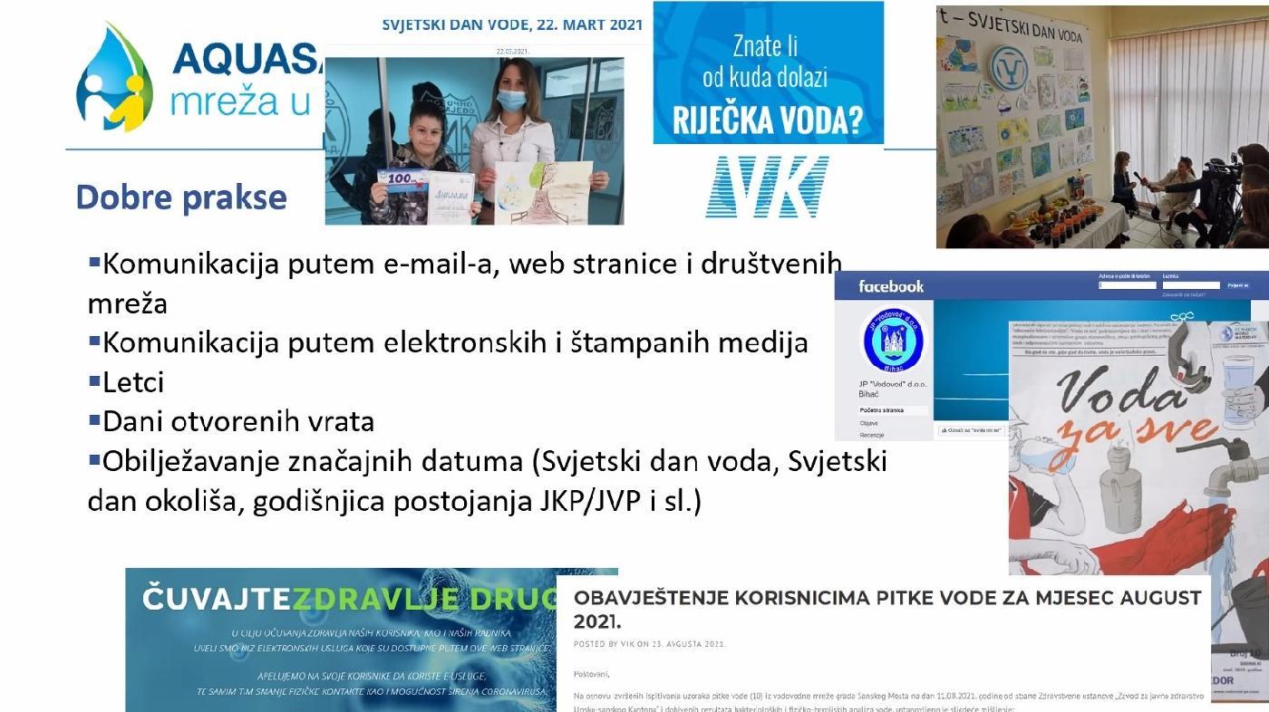 Podizanje svijesti i poboljšanje komunikacije s korisnicima vodnih usluga